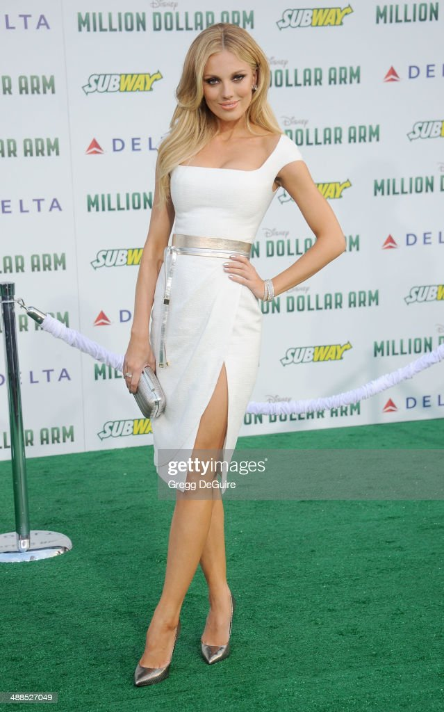 Actress Bar Paly arrives at the Los Angeles premiere of 'Million Dollar Arm' at the El Capitan Theatre on May 6, 2014 in Hollywood, California.