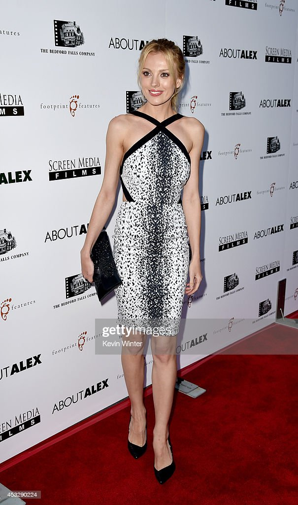 Actress Bar Paly arrives at the premiere of 'About Alex' at the Arclight Theatre on August 6, 2014 in Los Angeles, California.