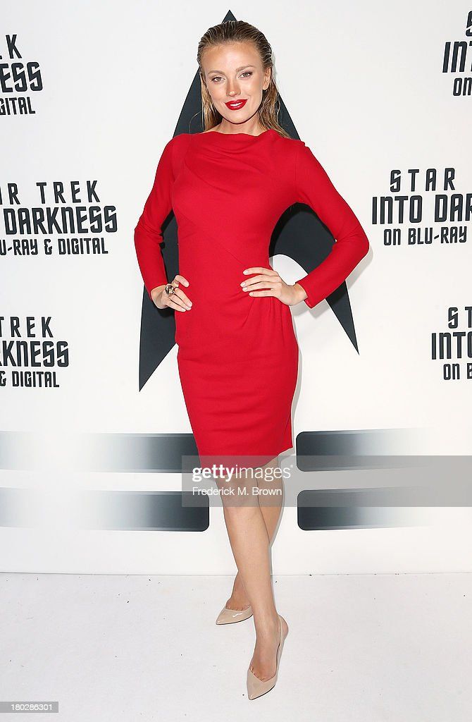 Actress <a gi-track='captionPersonalityLinkClicked' href=/galleries/search?phrase=Bar+Paly&family=editorial&specificpeople=5598732 ng-click='$event.stopPropagation()'>Bar Paly</a> attends 'Star Trek Into Darkness' Blu-ray/DVD Release Event at the California Science Center on September 10, 2013 in Los Angeles, California.