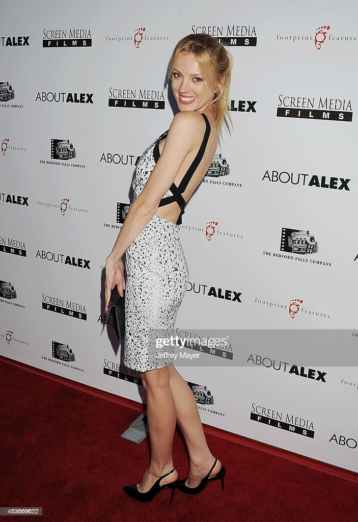 Actress <a gi-track='captionPersonalityLinkClicked' href=/galleries/search?phrase=Bar+Paly&family=editorial&specificpeople=5598732 ng-click='$event.stopPropagation()'>Bar Paly</a> attends the 'About Alex' Los Angeles premiere held at the Arclight Theater on August 6, 2014 in Hollywood, California.