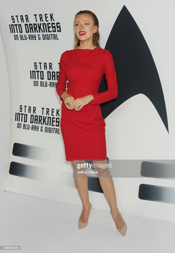 Actress Bar Paly attends the Paramount Pictures' celebration of the Blu-Ray and DVD debut of 'Star Trek: Into Darkness' at California Science Center on September 10, 2013 in Los Angeles, California.