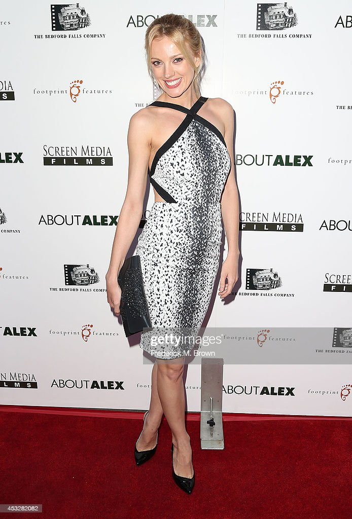 Actress <a gi-track='captionPersonalityLinkClicked' href=/galleries/search?phrase=Bar+Paly&family=editorial&specificpeople=5598732 ng-click='$event.stopPropagation()'>Bar Paly</a> attends the Premiere of 'About Alex' at the ArcLight Hollywood on August 6, 2014 in Hollywood, California.