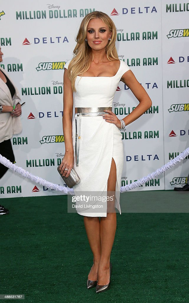 Actress <a gi-track='captionPersonalityLinkClicked' href=/galleries/search?phrase=Bar+Paly&family=editorial&specificpeople=5598732 ng-click='$event.stopPropagation()'>Bar Paly</a> attends the premiere of Disney's 'Million Dollar Arm' at the El Capitan Theatre on May 6, 2014 in Hollywood, California.