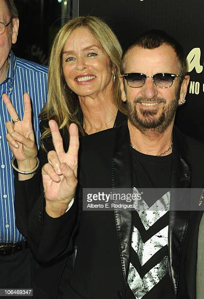 Actress Barbara Bach and musician Ringo Starr arrive at Hard Rock's 'Imagine There's No Hunger Celebrating the Songs of John Lennon' on November 2...