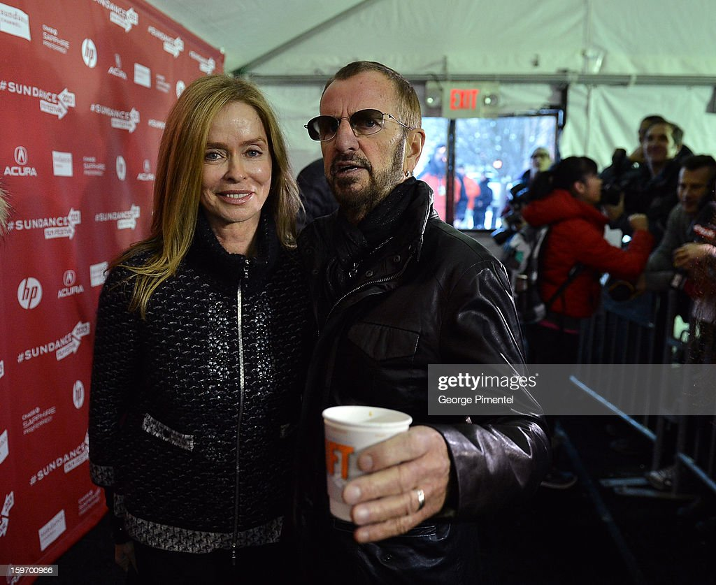 Actress Barbara Bach and musician <a gi-track='captionPersonalityLinkClicked' href=/galleries/search?phrase=Ringo+Starr&family=editorial&specificpeople=92463 ng-click='$event.stopPropagation()'>Ringo Starr</a> attend the 'Emanuel and The Truth About Fishes' Premiere during the 2013 Sundance Film Festival at Library Center Theater on January 18, 2013 in Park City, Utah.