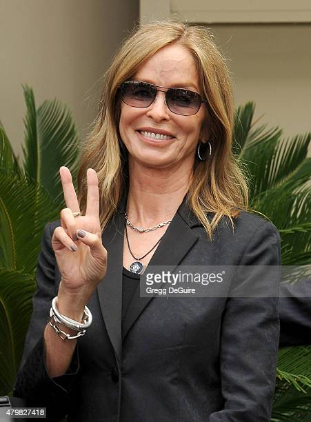 Actress Barbara Bach attends Ringo Starr's birthday fan gathering at Capitol Records on July 7 2015 in Hollywood California