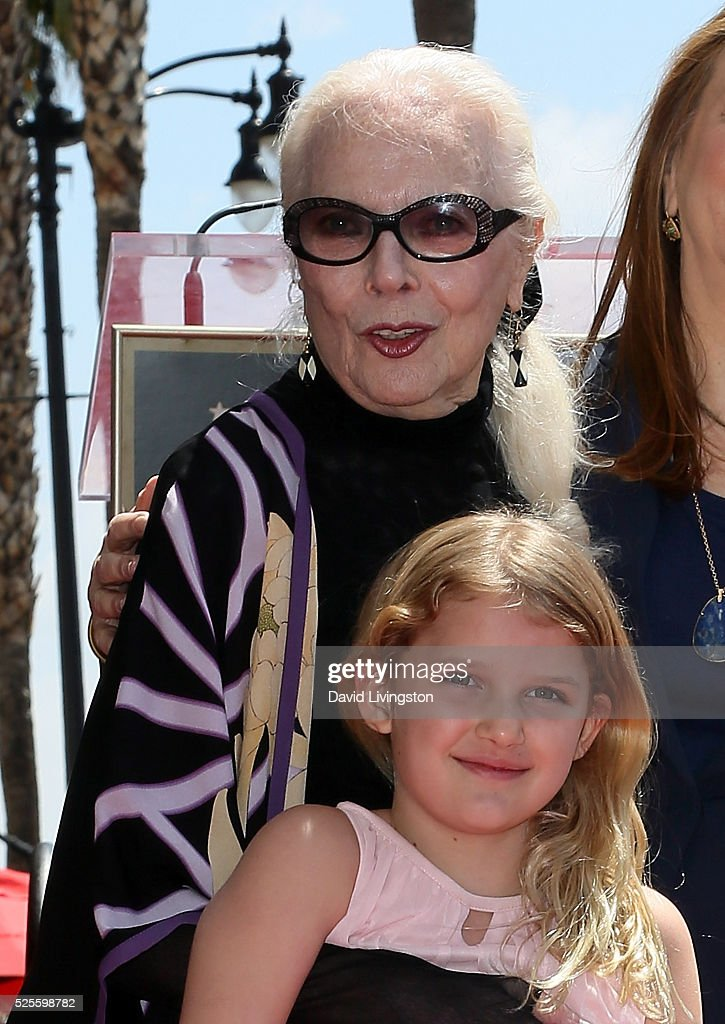 Actress <a gi-track='captionPersonalityLinkClicked' href=/galleries/search?phrase=Barbara+Bain&family=editorial&specificpeople=540059 ng-click='$event.stopPropagation()'>Barbara Bain</a> and granddaughter attend her being honored with a Star on the Hollywood Walk of Fame on April 28, 2016 in Hollywood, California.