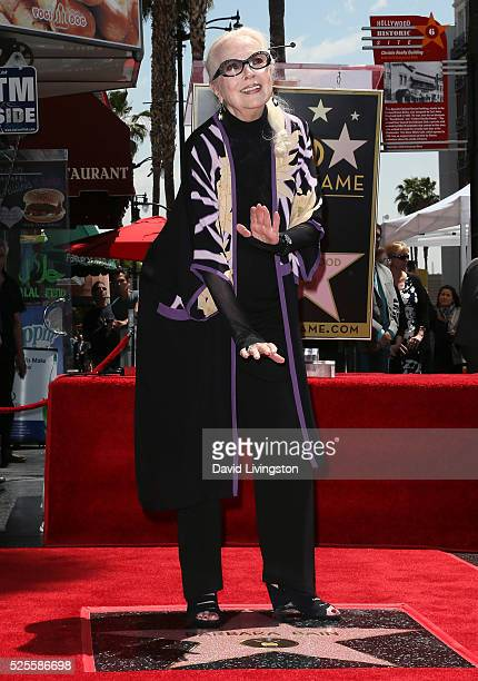Actress Barbara Bain attends her being honored with a Star on the Hollywood Walk of Fame on April 28 2016 in Hollywood California