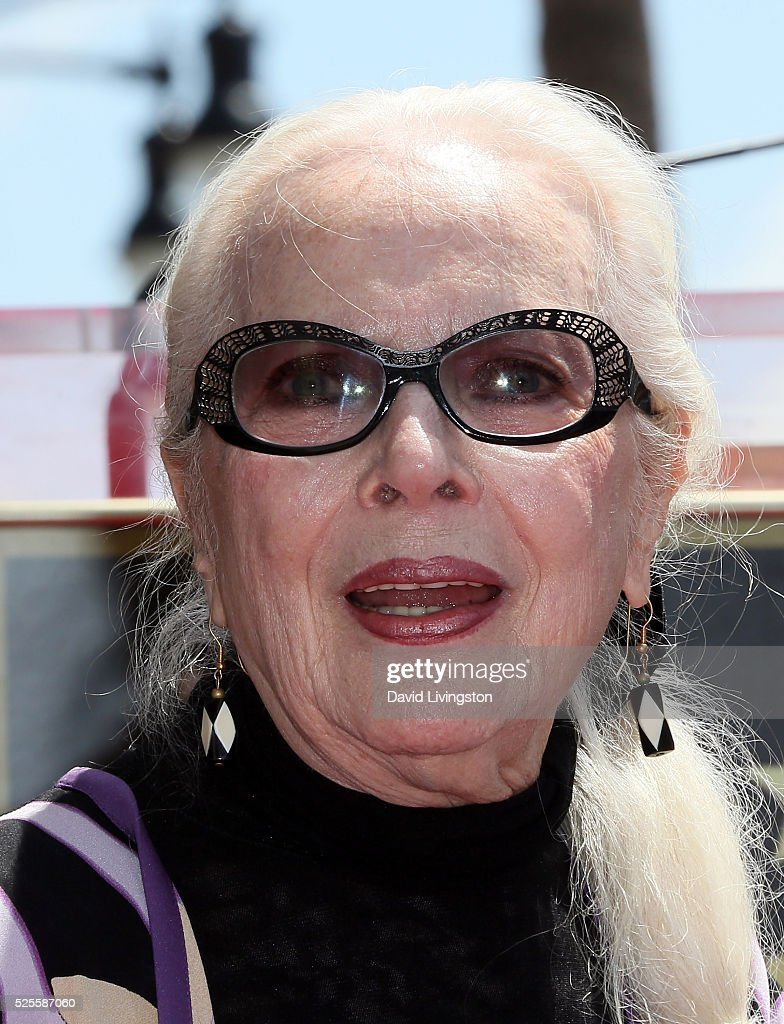 Actress <a gi-track='captionPersonalityLinkClicked' href=/galleries/search?phrase=Barbara+Bain&family=editorial&specificpeople=540059 ng-click='$event.stopPropagation()'>Barbara Bain</a> attends her being honored with a Star on the Hollywood Walk of Fame on April 28, 2016 in Hollywood, California.