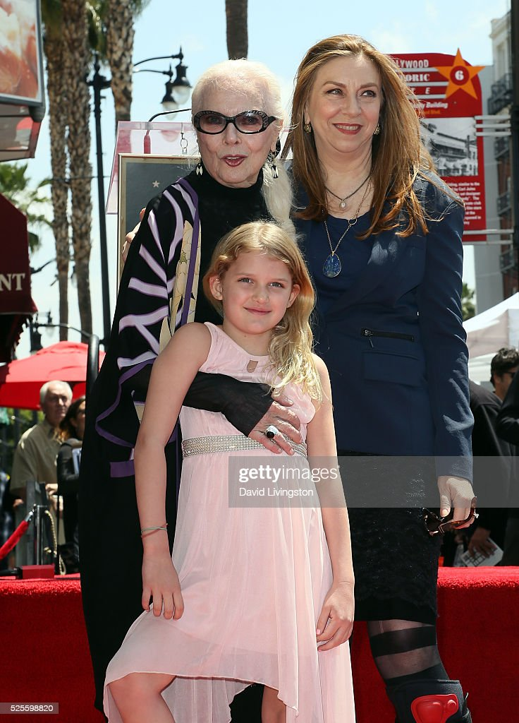 Actress <a gi-track='captionPersonalityLinkClicked' href=/galleries/search?phrase=Barbara+Bain&family=editorial&specificpeople=540059 ng-click='$event.stopPropagation()'>Barbara Bain</a>, daughter and granddaughter attend her being honored with a Star on the Hollywood Walk of Fame on April 28, 2016 in Hollywood, California.