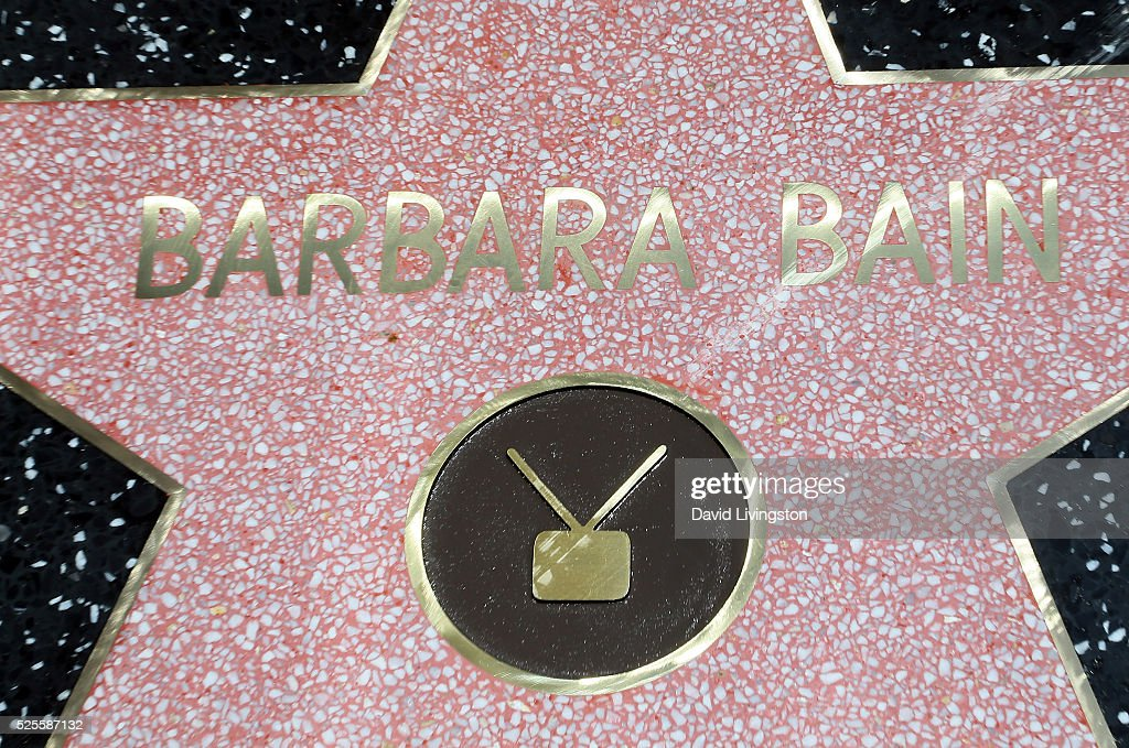 Actress Barbara Bain honored with a Star on the Hollywood Walk of Fame on April 28, 2016 in Hollywood, California.