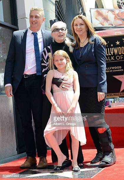 Actress Barbara Bain with daughter and granddaughter at the Barbara Bain Star ceremony held On The Hollywood Walk Of Fame on April 28 2016 in...