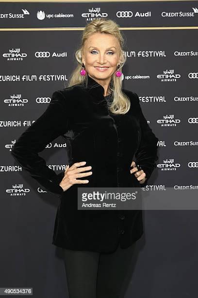 Actress Barbara Bouchet attends the 'Das Wetter In Geschlossenen Raeumen' Premiere during the Zurich Film Festival on September 29 2015 in Zurich...