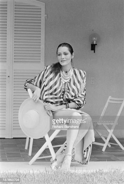 Actress Barbara Carrera at the Cannes Film Festival France May 1984