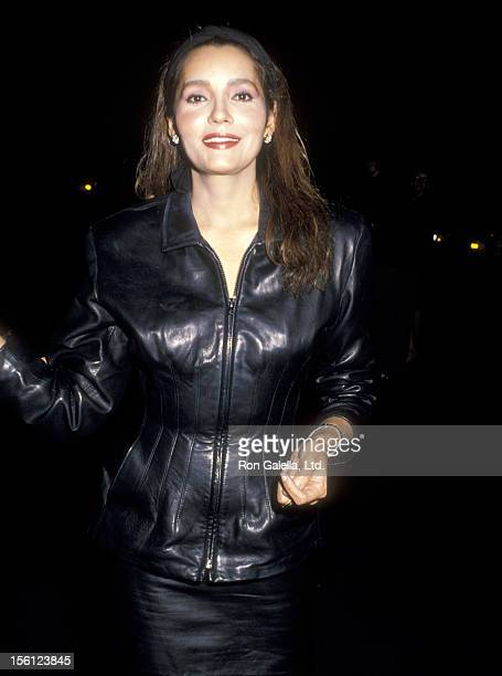 Actress Barbara Carrera attends the Party to Celebrate Joan Collins' New Book 'Prime Time' on September 28 1988 at Spago in West Hollywood California