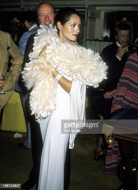 Actress Barbara Carrera attends the Party to Celebrate the Release of Judith Krantz's First Novel 'Scruples' on March 9 1978 at Giorgio Armani...