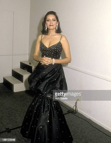Actress Barbara Carrera attends the Second Annual Stuntman Awards on March 22 1986 at KTLA Studios in Hollywood California