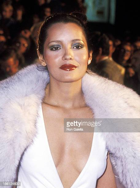 Actress Barbara Carrera attends the 'Sextette' Hollywood Premiere on March 2 1978 at Pacific's Cinerama Dome in Hollywood California