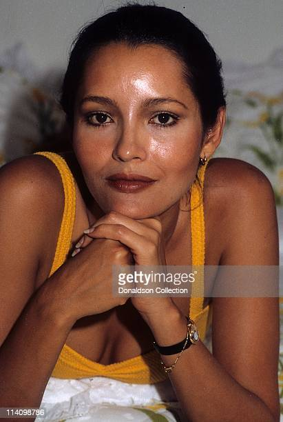 Actress Barbara Carrera poses for a portrait in c1985 in Los Angeles California