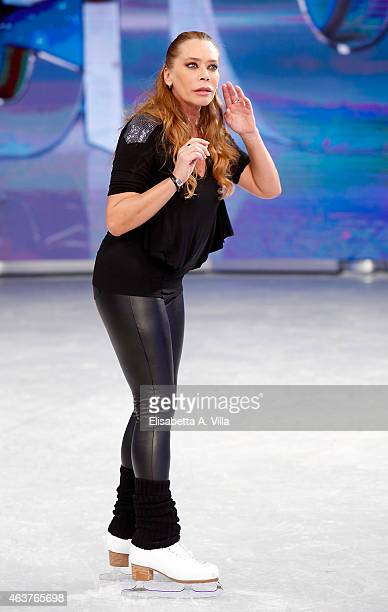 Actress Barbara De Rossi poses during the 'Notti Sul Ghiaccio' TV Show photocall at RAI Studios on February 18 2015 in Rome Italy