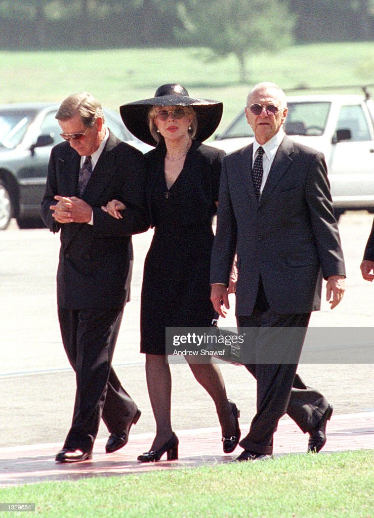 Actress Barbara Eden and her husband Jon Eicholtz, left, arrive for the funeral at the Forest Lawn Cemetery for the funeral service for Matthew Ansara July 2, 2001 in Los Angeles, CA. Matthew Michael Ansara was found dead on June 25, 2001 slumped over the steering wheel of a parked car in Monrovia, CA.