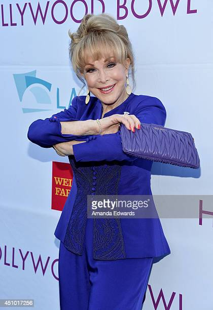 Actress Barbara Eden arrives at the Hollywood Bowl Opening Night and Hall of Fame Inductions event at the Hollywood Bowl on June 21 2014 in Hollywood...