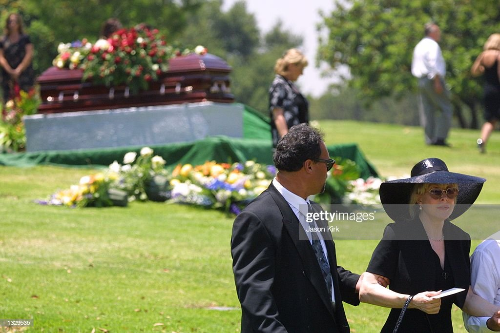 Actress Barbara Eden attends the funeral for her son Matthew Ansara July 2, 2001 in Hollywood, CA. Matthew Michael Ansara was found dead on the night of June 25, 2001 slumped over the steering wheel of a parked car in Monrovia, California.