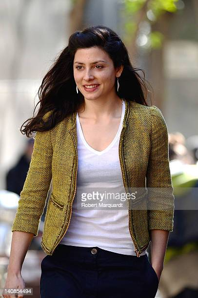 Actress Barbara Lennie attends a media presentation for her latest film 'Dictado' at the Cine Verde on March 7 2012 in Barcelona Spain
