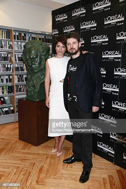 Actress Barbara Lennie presents the hairstyles by L'Oreal Professionnel for 2015 Goya Awards at Spanish Cinema Academy on January 14 2015 in Madrid...
