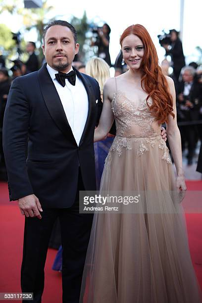 Actress Barbara Meier and her boyfriend Klemens Hallmann attend 'The Last Face' Premiere during the 69th annual Cannes Film Festival at the Palais...