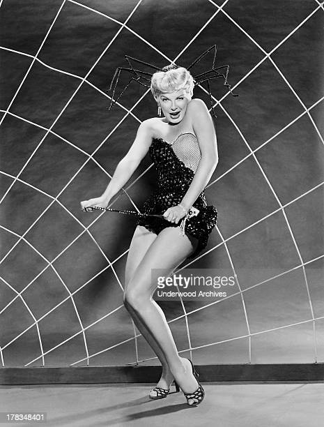 Actress Barbara Nichols plays an innocent stripper in the film 'Miracle In The Rain' Hollywood California 1956