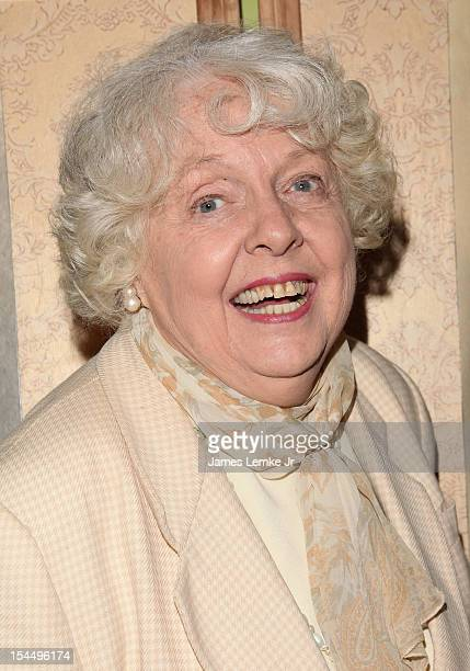 Actress Barbara Perry attends Carla Laemmle's 103rd birthday celebration at The Silent Movie Theater on October 20 2012 in Los Angeles California