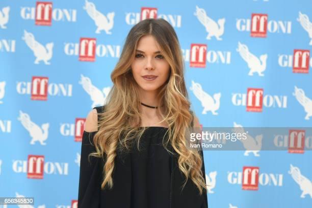 Actress Barbara Ramella attends a photocall after the movie preview of 'Slam Tutto per una ragazza' at the Cittadella del Cinema>> on March 21 2017...