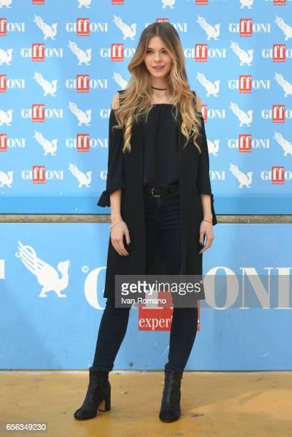 Actress Barbara Ramella attends a photocall after the movie preview of 'Slam Tutto per una ragazza' at the Cittadella del Cinema on March 21 2017 in...