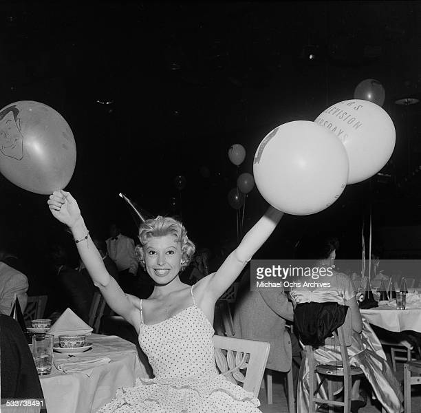 Actress Barbara Ruick attends the CBS party for Johnny Carson in Los AngelesCA