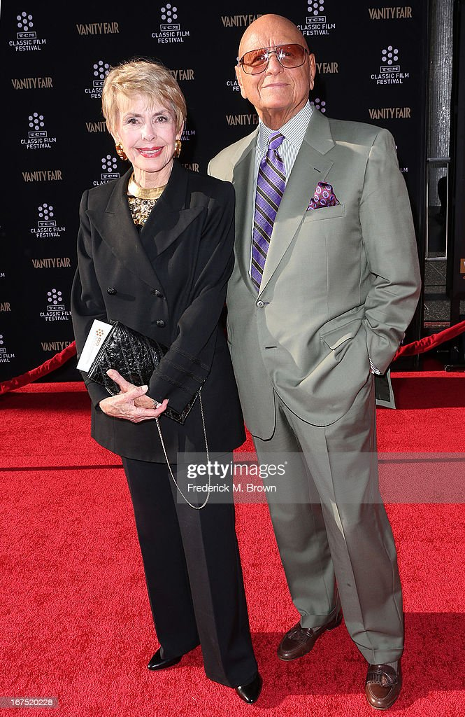 Actress Barbara Rush (L) and her guest attend the 2013 TCM Classic Film Festival Opening Night Gala screening of 'Funny Girl' at the TCL Chinese Theatre on April 25, 2013 in Hollywood, California.