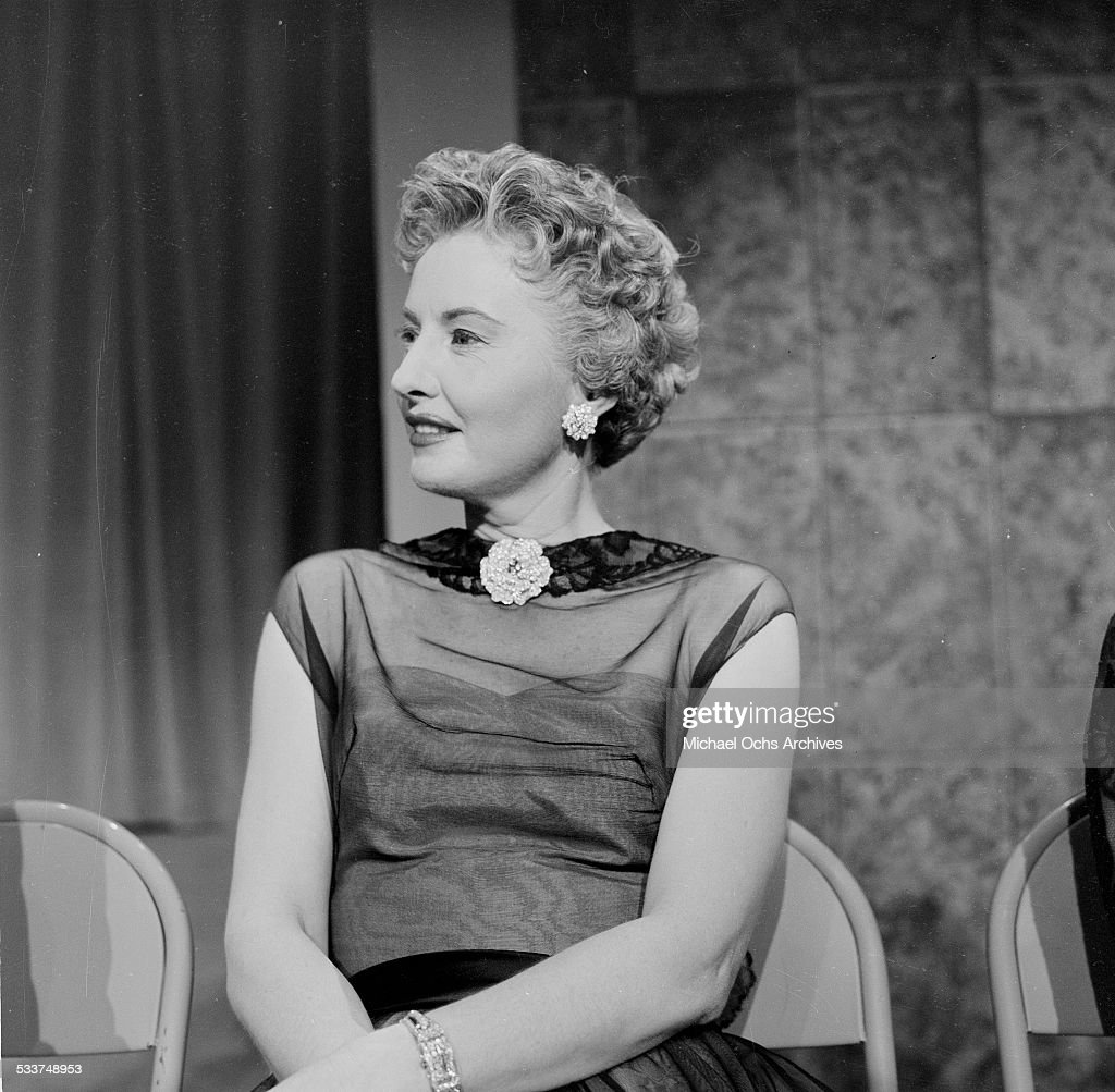 Actress <a gi-track='captionPersonalityLinkClicked' href=/galleries/search?phrase=Barbara+Stanwyck&family=editorial&specificpeople=90352 ng-click='$event.stopPropagation()'>Barbara Stanwyck</a> attends the Oscar Nominations in Los Angeles,CA.