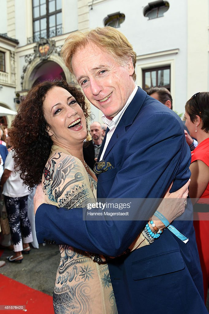 Actress Barbara Wussow and Albert Fortell attend the Bavaria Reception at the Kuenstlerhaus as part of the Munich Film Festival 2014 on July 1, 2014 in Munich, Germany.