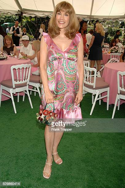 Actress Barbi Benton posing at the Playboy Playmate of the Year 2007 luncheon held at the Playboy Mansion in Los Angeles California