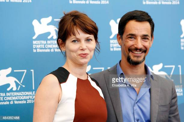 Actress Barbora Bobulova and actor Peppino Mazzotta attend the 'Anime Nere' Photocall during the 71st Venice Film Festival on August 29 2014 in...