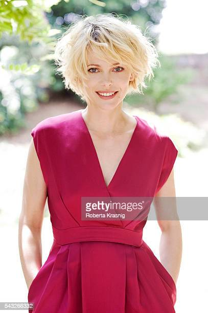 Actress Barbora Bobulova is photographed for Self Assignment on October 18 2011 in Rome Italy