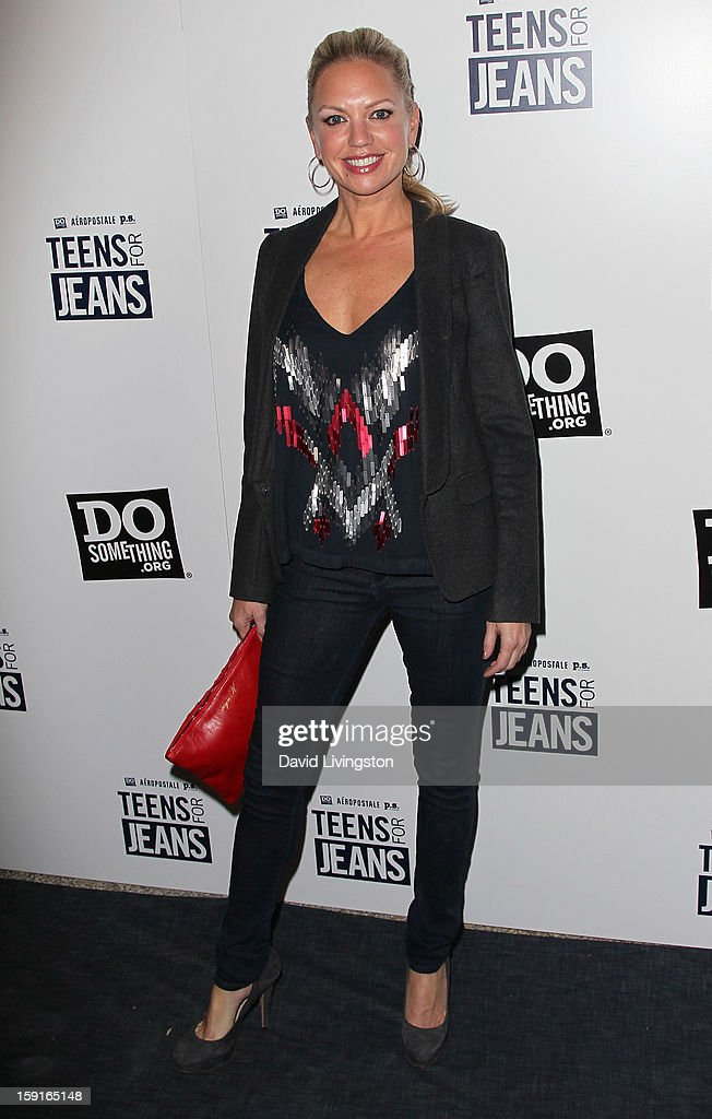 Actress Barret Swatek attends DoSomething.org and Aeropostale celebrating the launch of the 6th Annual 'Teens For Jeans' campaign hosted by Chloe Moretz at Palihouse on January 8, 2013 in West Hollywood, California.