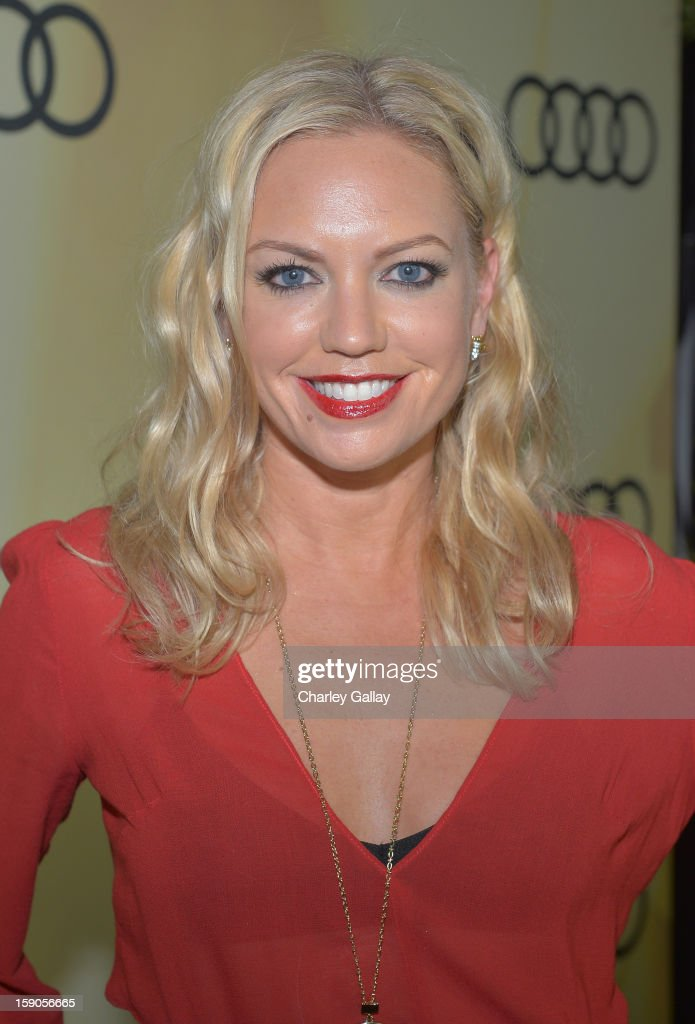 Actress Barret Swatek attends the Audi Golden Globes Kick Off 2013 at Cecconi's Restaurant on January 6, 2013 in Los Angeles, California.