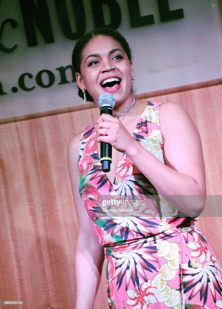 Actress Barrett Doss performs during 'Groundhog Day The Musical' signing and performance event at Barnes & Noble, 86th & Lexington on May 19, 2017 in New York City.