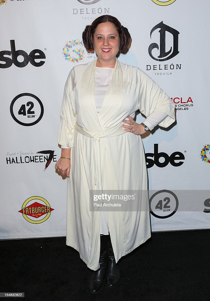 Actress Bayne Gibby attends Fred & Jason's annual Halloweenie charity event at The Lot on October 26, 2012 in West Hollywood, California.