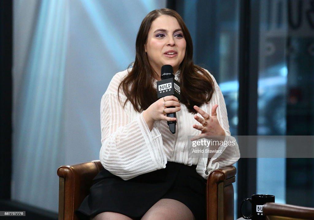 Actress Beanie Feldstein discusses the film 'Lady Bird' at Build Studio on December 7, 2017 in New York City.