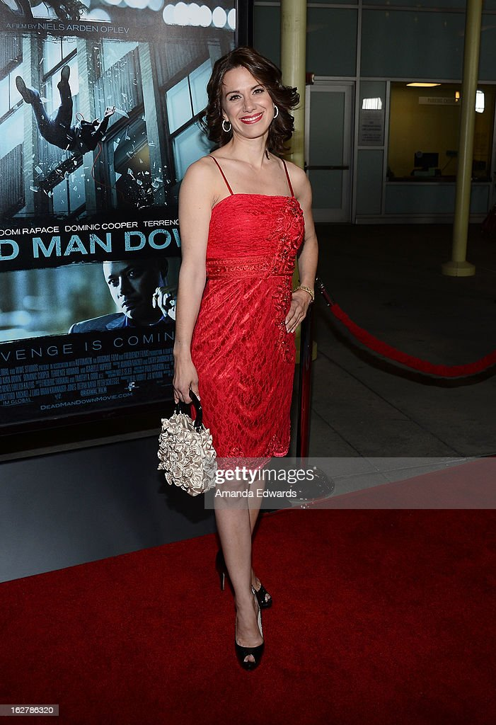 Actress Beata Dalton arrives at the Los Angeles Premiere of 'Dead Man Down' at ArcLight Hollywood on February 26, 2013 in Hollywood, California.