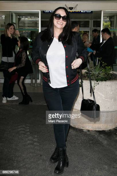 Actress Beatrice Dalle arrives at Nice airport during the 70th annual Cannes Film Festival at on May 21 2017 in Cannes France