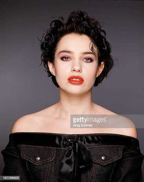 Actress Beatrice Dalle is photographed for Gamma Liaison on January 1 1998 in Los Angeles California