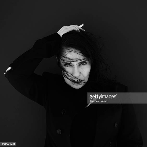 Actress Beatrice Dalle is photographed for Self Assignment on May 23 2013 in Cannes France